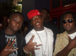 Jay Burna (left) and Ace Hood