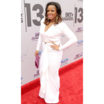 Ms. Drama Rocks All-White On The Red Carpet At The BET Awards [Photos]